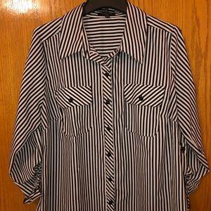 Women's dressy button down blouse.